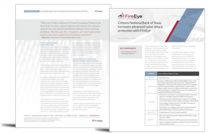 Citizens National Bank enhances advanced cyber-attack protection with FireEye