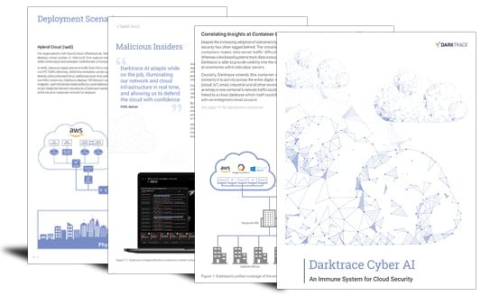 Darktrace Cyber AI_ An Immune System for Cloud Security
