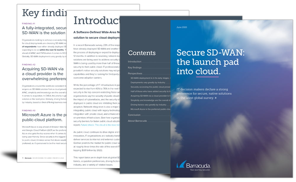 Secure SD-WAN: the launch pad into cloud