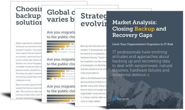 Market analysis: closing backup and recovery gaps