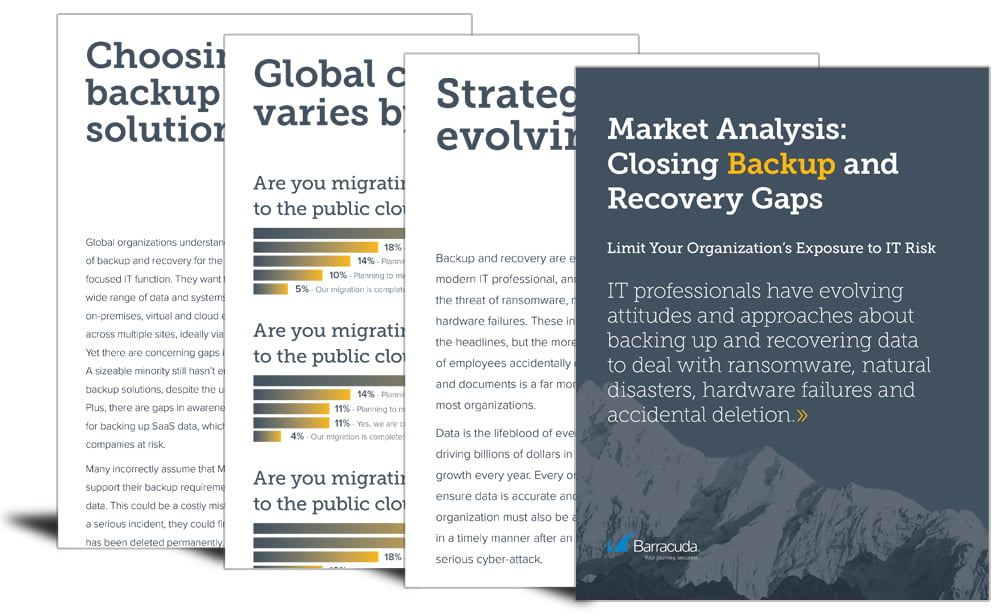 Market analysis: closing backup and recovery gaps