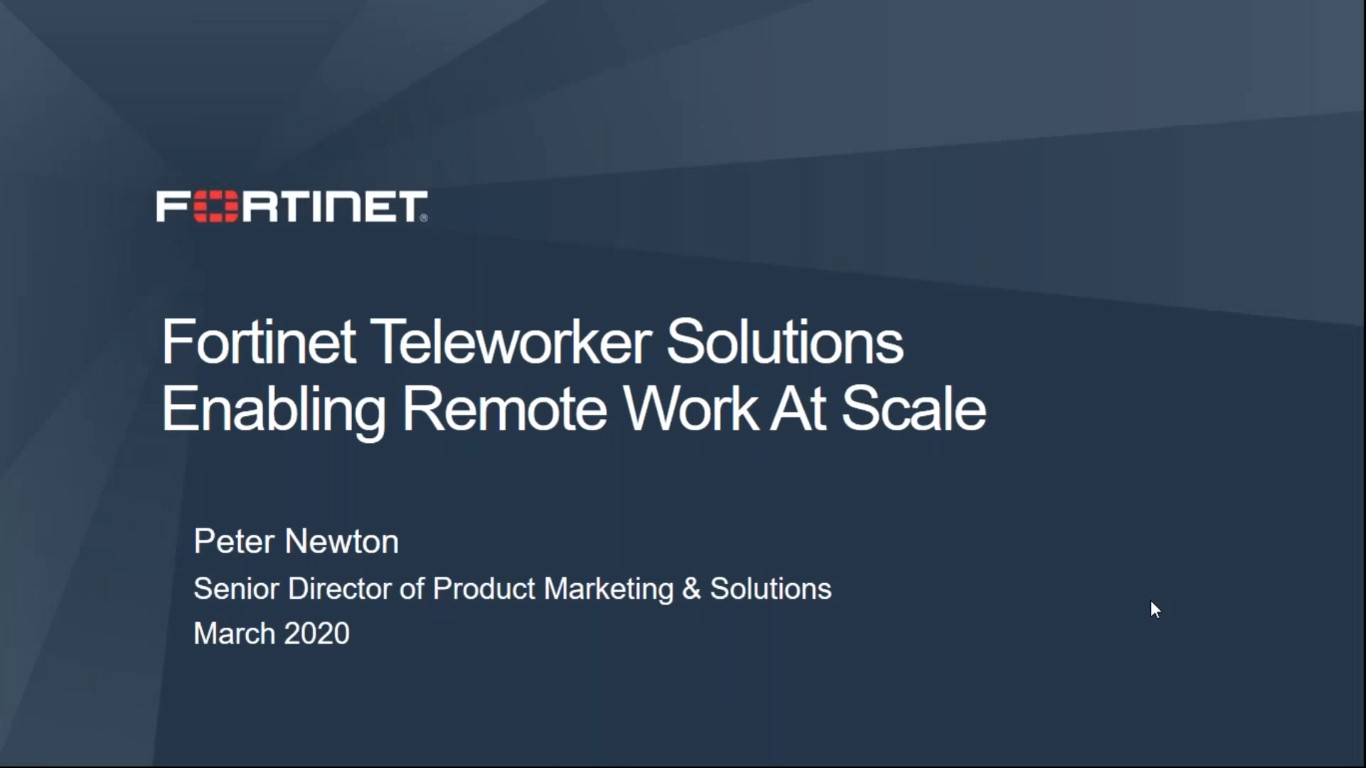 Webinar: Best practices for teleworkers at scale