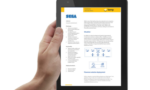 SEGA moves faster with flow-based network monitoring